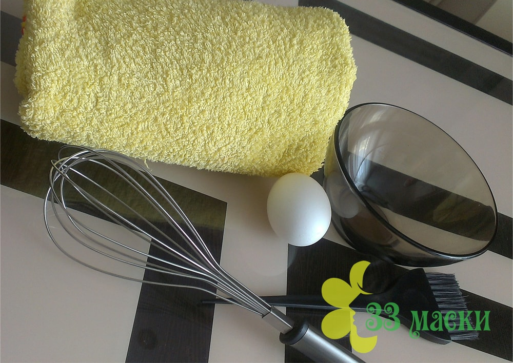 маска от прыщей с содой и яйцом