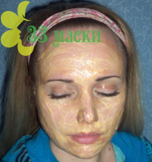 маска для проблемной кожи из хурмы