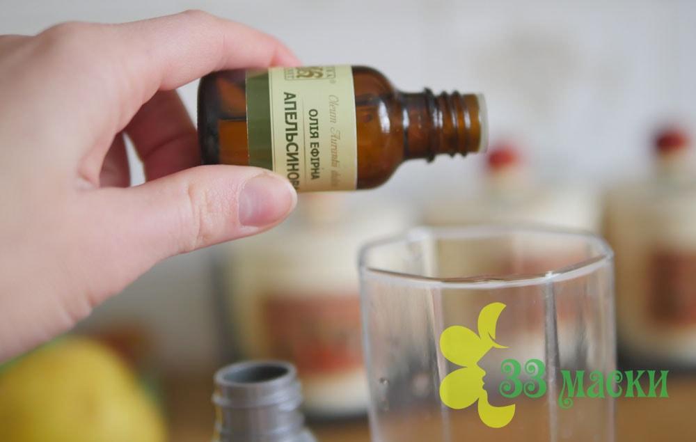 домашний тоник для жирной кожи с эфирными маслами