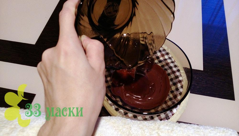 приготовление шоколадной маски